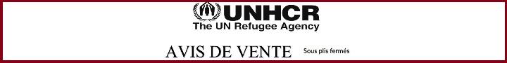 UNHCR: AVIS DE VENTE Sous plis fermés
